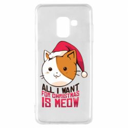 Чехол для Samsung A8 2018 All i want for christmas is meow