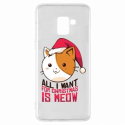 Чехол для Samsung A8+ 2018 All i want for christmas is meow