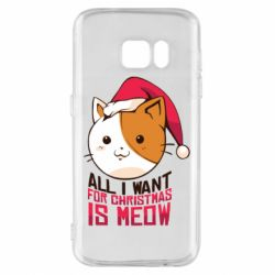 Чехол для Samsung S7 All i want for christmas is meow