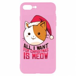 Чехол для iPhone 8 Plus All i want for christmas is meow