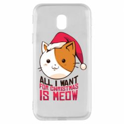 Чехол для Samsung J3 2017 All i want for christmas is meow