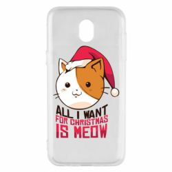 Чехол для Samsung J5 2017 All i want for christmas is meow