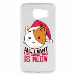 Чехол для Samsung S6 All i want for christmas is meow