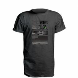 Удлиненная футболка All seeing cat