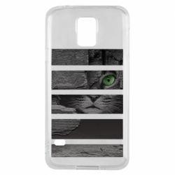 Чехол для Samsung S5 All seeing cat