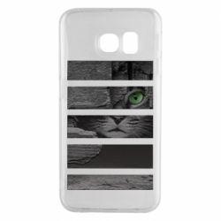 Чехол для Samsung S6 EDGE All seeing cat