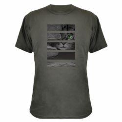 Камуфляжная футболка All seeing cat