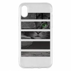 Чехол для iPhone X/Xs All seeing cat