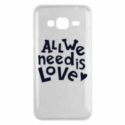 Чехол для Samsung J3 2016 All we need is love