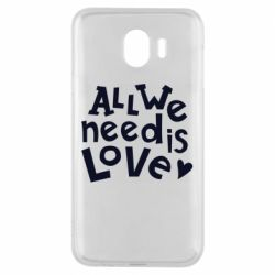 Чехол для Samsung J4 All we need is love