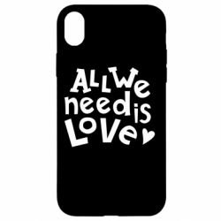 Чехол для iPhone XR All we need is love