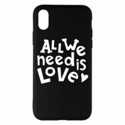 Чехол для iPhone X/Xs All we need is love