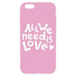 Чехол для iPhone 6/6S All we need is love