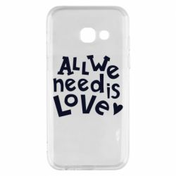 Чехол для Samsung A3 2017 All we need is love