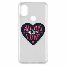 Чехол для Xiaomi Mi A2 All you need is love and heart
