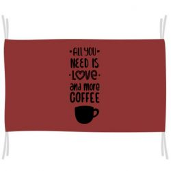 Прапор All you need is love and mora coffee