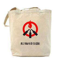 Сумка All you need is love (Коктейль Молотова) - FatLine