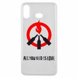 Купить Чехол для Samsung A6s All you need is love (Коктейль Молотова), FatLine