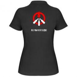Женская футболка поло All you need is love (Коктейль Молотова)