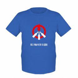 Детская футболка All you need is love (Коктейль Молотова) - FatLine