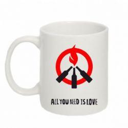 Кружка 320ml All you need is love (Коктейль Молотова) - FatLine