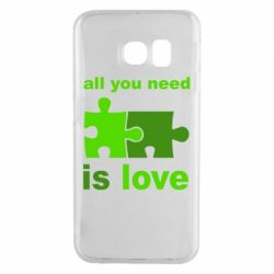 Чехол для Samsung S6 EDGE All you need is love - FatLine