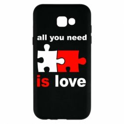 Чехол для Samsung A7 2017 All you need is love - FatLine