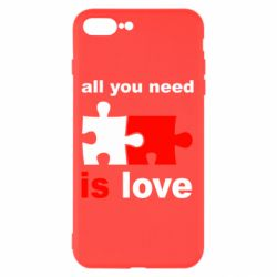 Чехол для iPhone 8 Plus All you need is love - FatLine