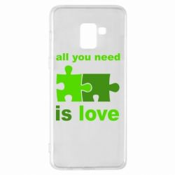 Чехол для Samsung A8+ 2018 All you need is love - FatLine