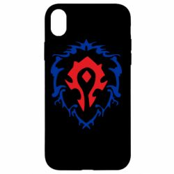 Чехол для iPhone XR Alliance and horde two in one