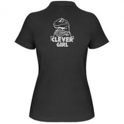 Жіноча футболка поло Allosaurus clever girl