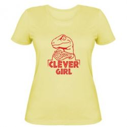 Жіноча футболка Allosaurus clever girl