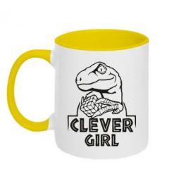 Кружка двоколірна 320ml Allosaurus clever girl