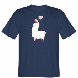 Чоловіча футболка Alpaca with a heart