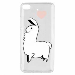 Чехол для Xiaomi Mi 5s Alpaca with a heart