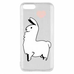 Чехол для Xiaomi Mi6 Alpaca with a heart