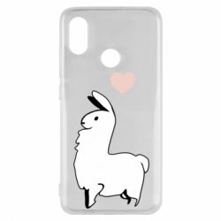 Чехол для Xiaomi Mi8 Alpaca with a heart