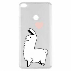 Чехол для Xiaomi Mi Max 2 Alpaca with a heart