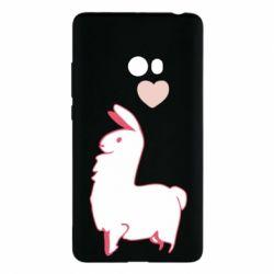 Чехол для Xiaomi Mi Note 2 Alpaca with a heart