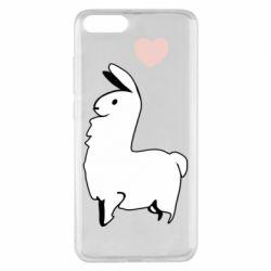Чехол для Xiaomi Mi Note 3 Alpaca with a heart