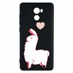 Чехол для Xiaomi Redmi 4 Alpaca with a heart