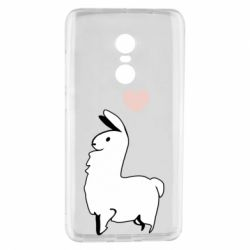 Чехол для Xiaomi Redmi Note 4 Alpaca with a heart