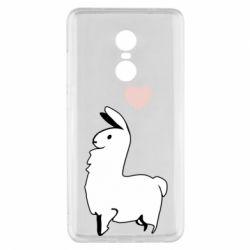 Чехол для Xiaomi Redmi Note 4x Alpaca with a heart