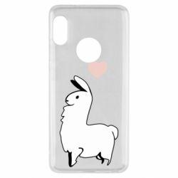 Чехол для Xiaomi Redmi Note 5 Alpaca with a heart