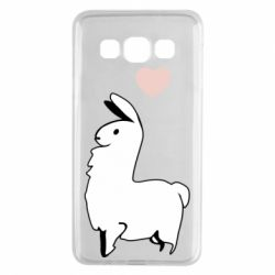 Чохол для Samsung A3 2015 Alpaca with a heart