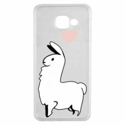 Чохол для Samsung A3 2016 Alpaca with a heart