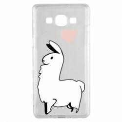 Чохол для Samsung A5 2015 Alpaca with a heart