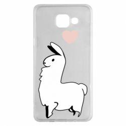 Чохол для Samsung A5 2016 Alpaca with a heart
