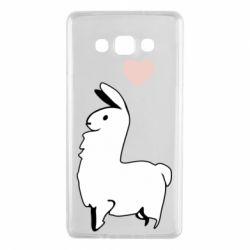 Чохол для Samsung A7 2015 Alpaca with a heart