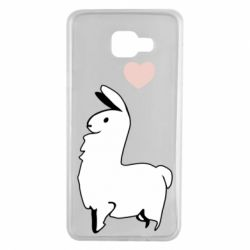 Чохол для Samsung A7 2016 Alpaca with a heart